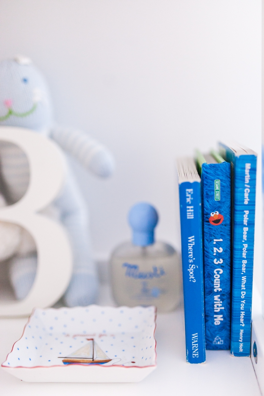 Baby Boy Nursery Decor Ideas - Baby Boy Books FashionableHostess.com