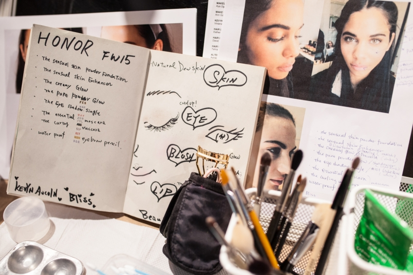 Backstage Beauty Recap from HONOR SHow NYFW15 on FashionableHostess.com