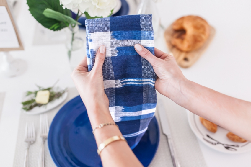Blue Plaid Napkins from Pottery Barn