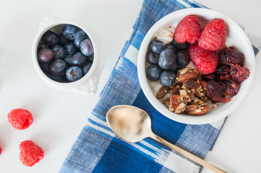 Chia Seed Pudding, Berries, and Granola Recipe on Fashionable Hostess