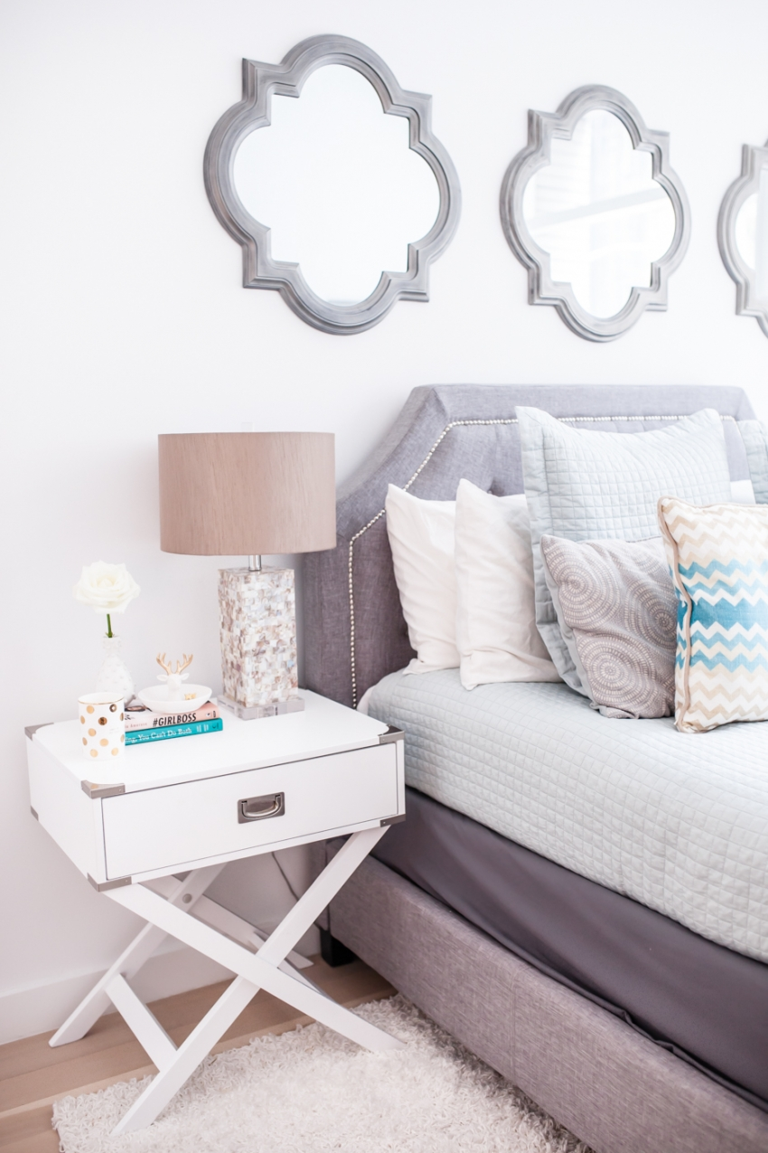 Fashionable Hostess Bedside Table Decor