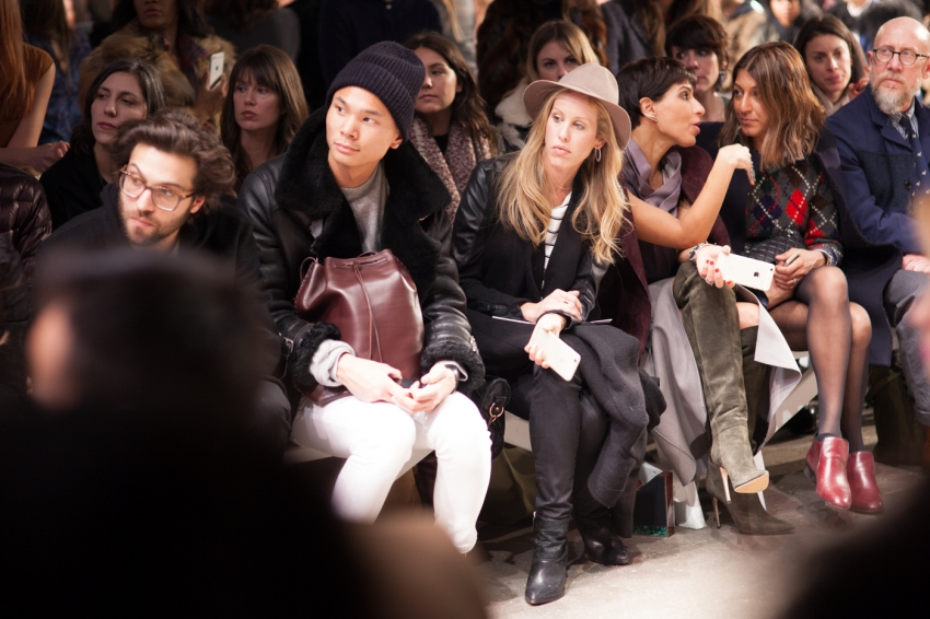 Front row at Honor Fashion Show NYFW15