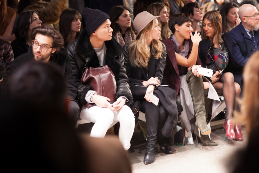 Front row of HONOR Fashion Show NYFW15