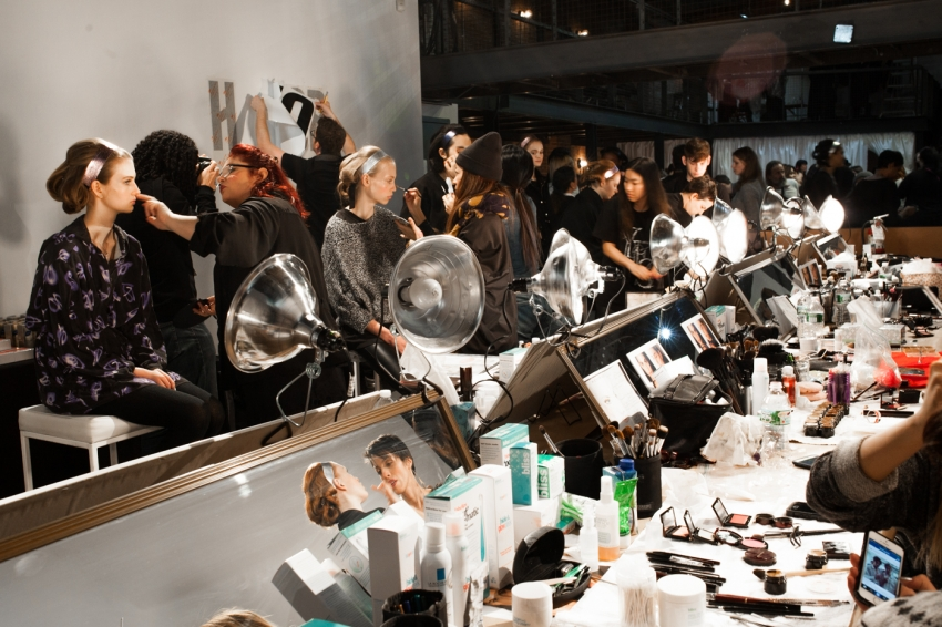 Honor Backstage Beauty Prep - Backstage Beauty Recap from NYFW15 on FashionableHostess.com