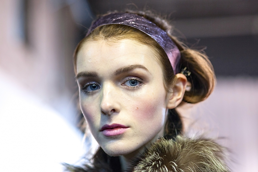 Honor Model Backstage Beauty Prep - Backstage Beauty Recap from NYFW15 on FashionableHostess.com