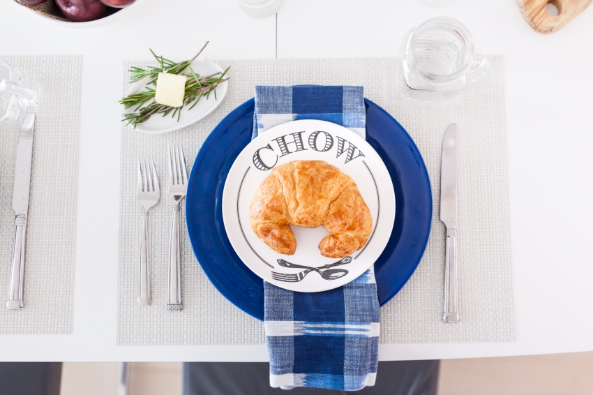 Pottery Barn Chow Plates - Country Breakfast with Pottery barn by Fashionble Hostess