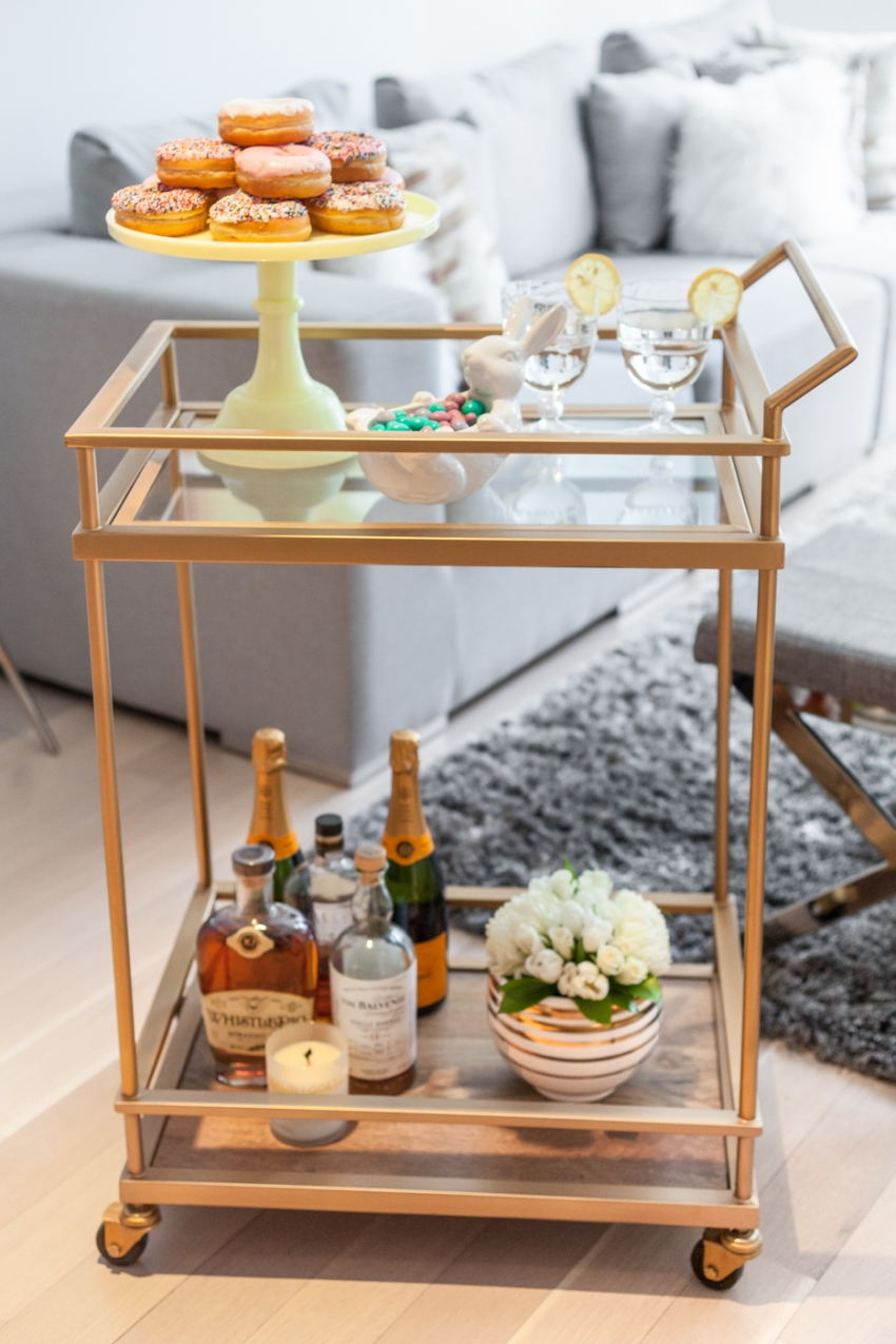 Style your bar cart for Spring