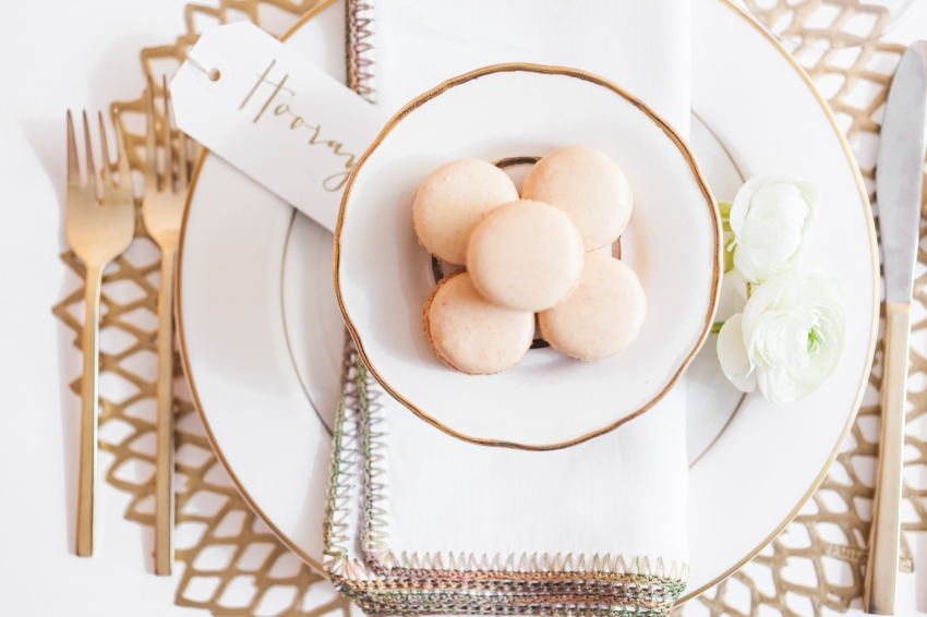 bridal shower macarons by Fashionable Hostess