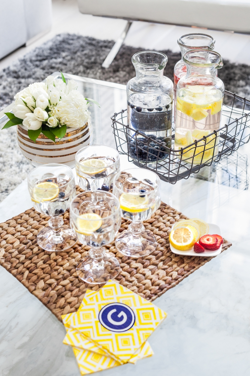 Create an Infused Water Bar for your Spring Party