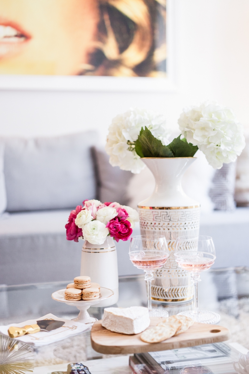 Hosting cocktails at home for summer by Fashionable Hostess