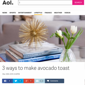 Featured on AOL Lifestyle in March 2015