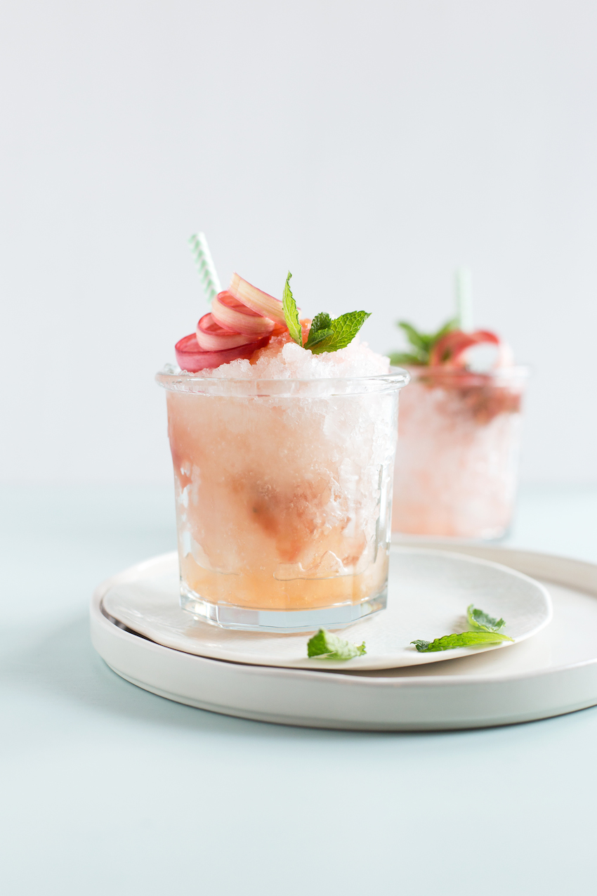 Rhubarb Mint Julep Recipe on Fashionable Hostess
