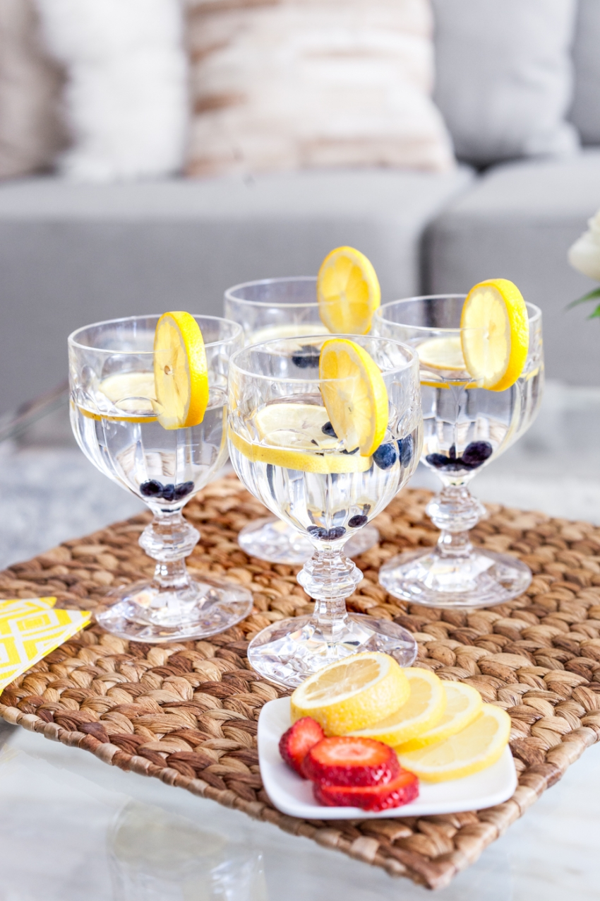Villeroy and Boch Water Goblets on Fashionable Hostess