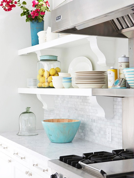 White stone backsplash pictures - kitchen inspiration