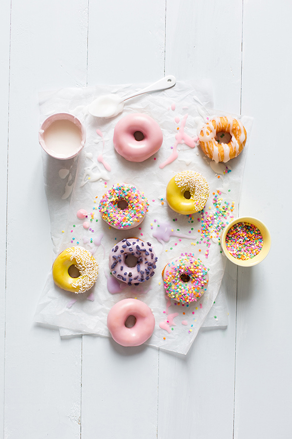 Prettiest Birthday Dessert Ideas - Colored Donuts