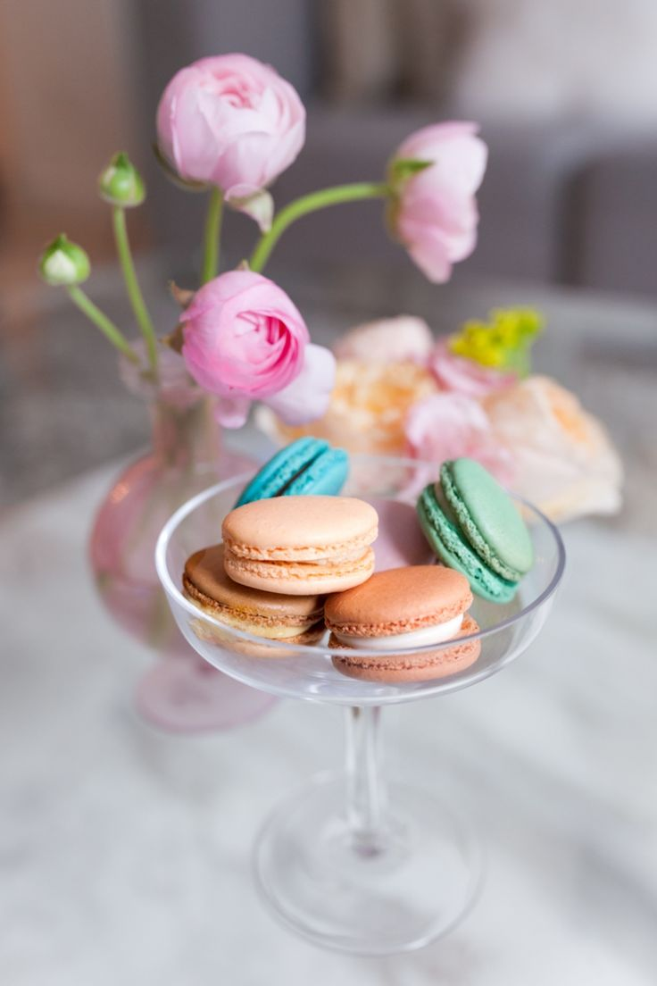 Prettiest Birthday Dessert Ideas - Laduree Macarons on FashionableHostess