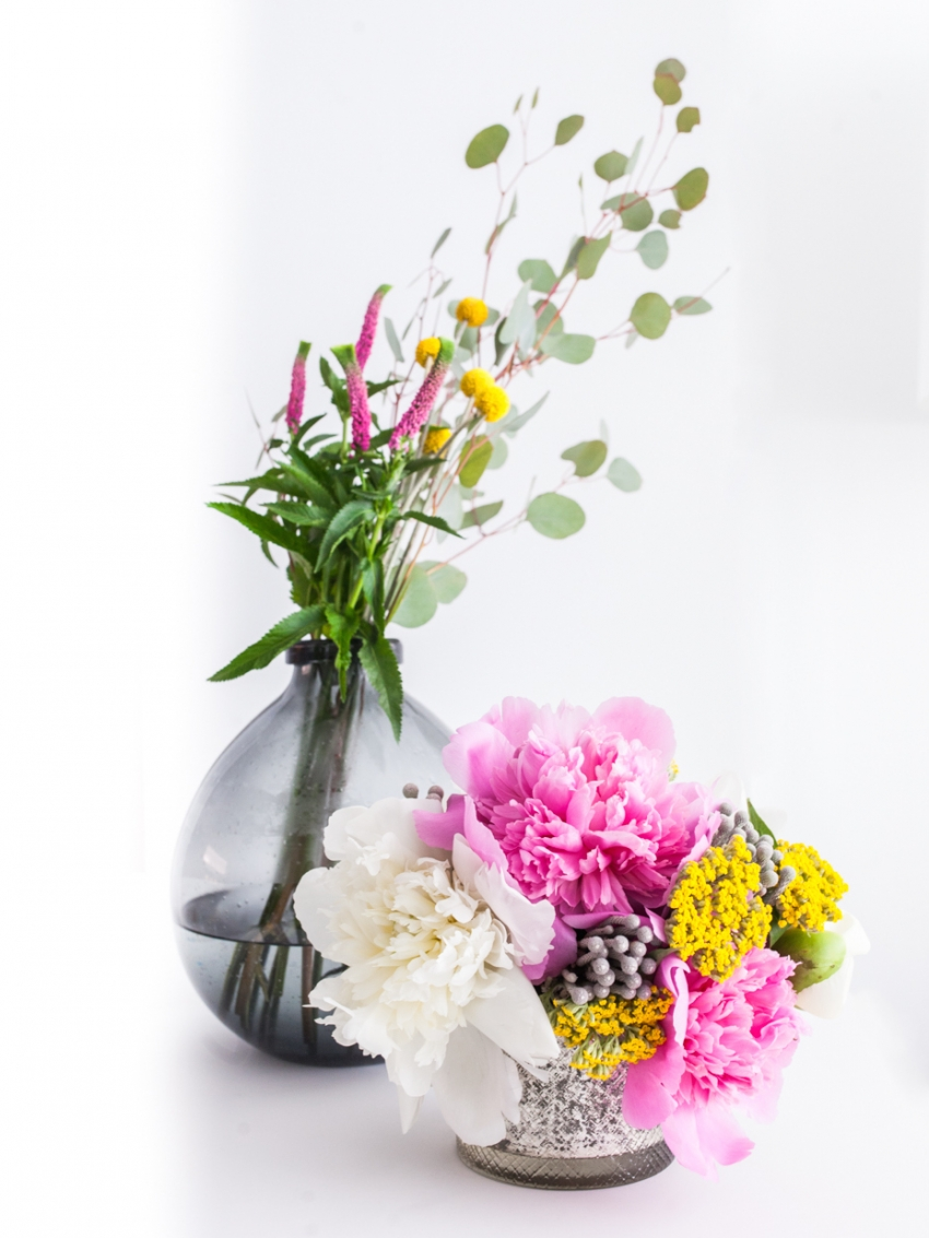 Arrangements via Stem & Bloom flowers