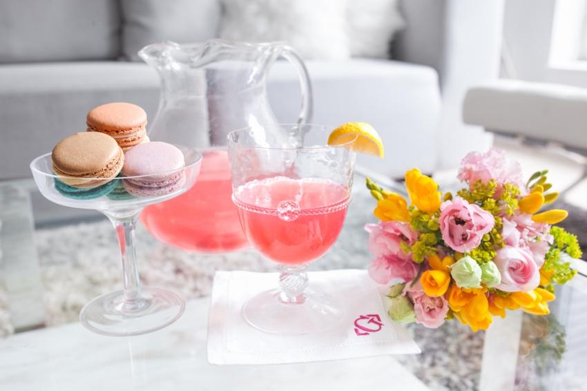 Macarons and Pink Lemonade on Fashionable Hostess