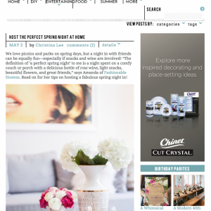 Featured on Style Me Pretty in May 2015
