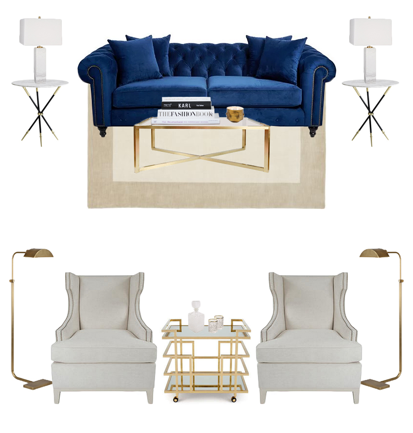 #TNChateauFH livingroom Inspiration Board
