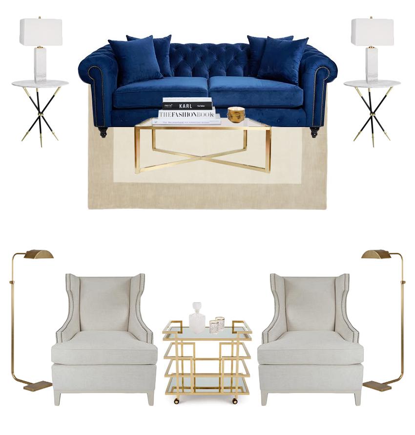 #TNChateauFH livingroom Inspiration Board