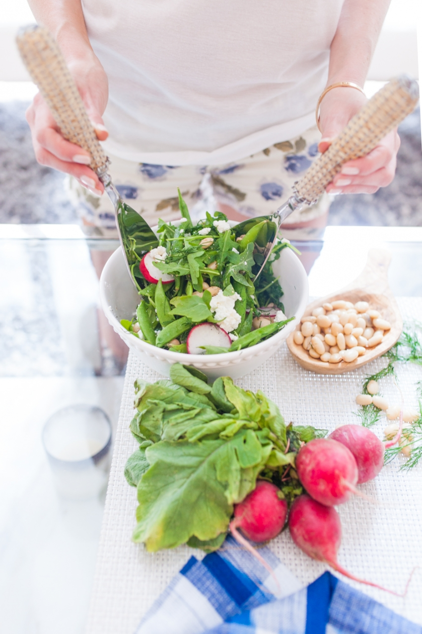 Ideas for spring salads by Fashionable Hostess