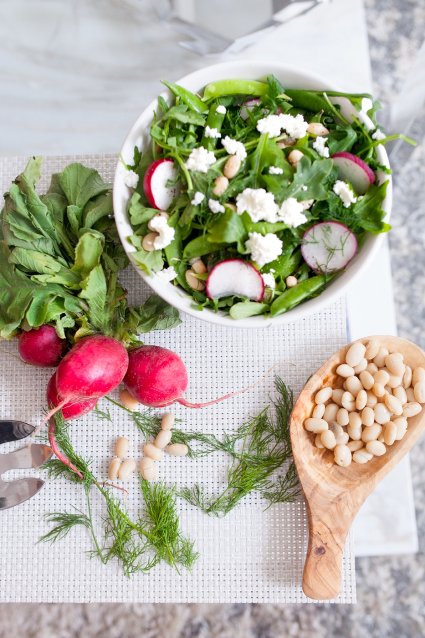 White Bean Salad with Spring Vegetables by Fashionable Hostess