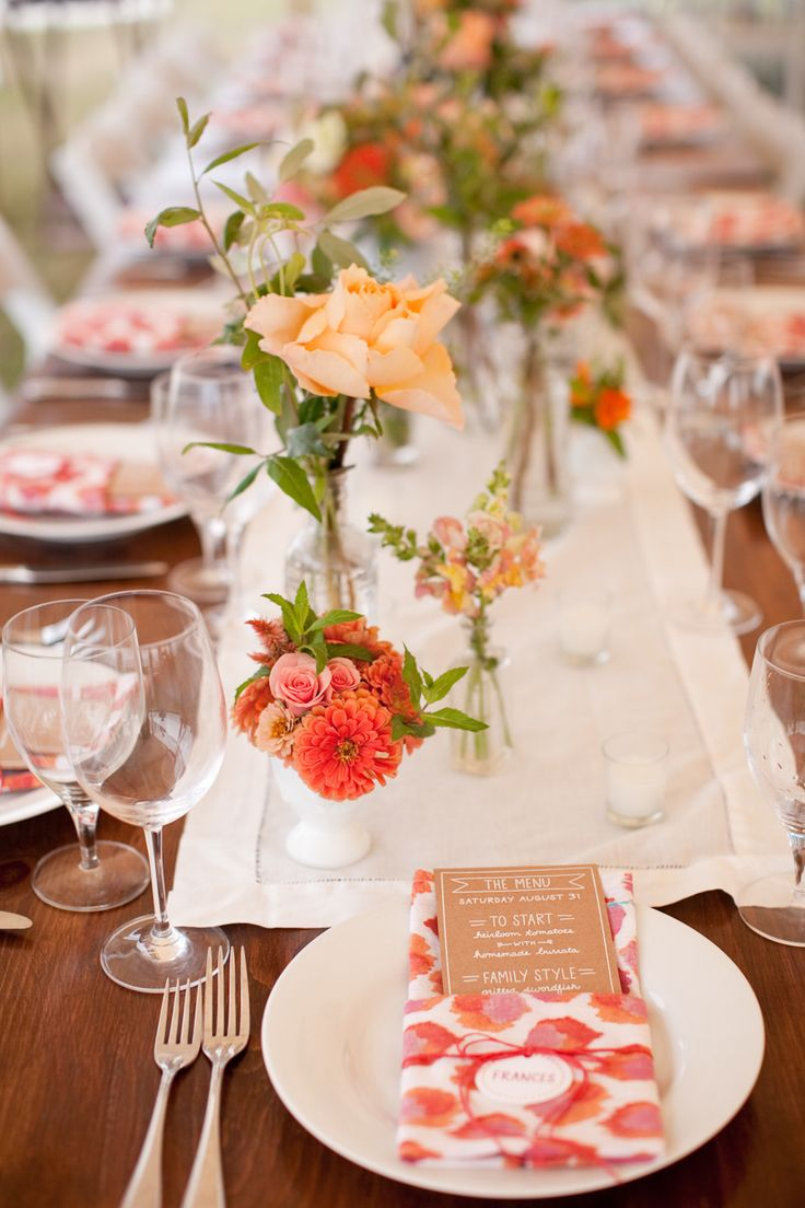 Red Table Decor