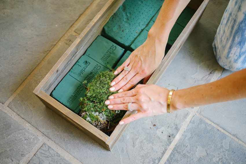 DIY Succulent Box on Fashionable Hostess - Step 1
