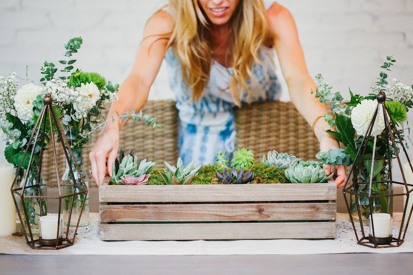 DIY Succulent Box on Fashionable Hostess - Missions Accomplished!