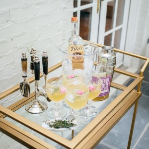 Gorgeous Styling ideas your Bar Cart for Summer Party by Fashionable Hostess