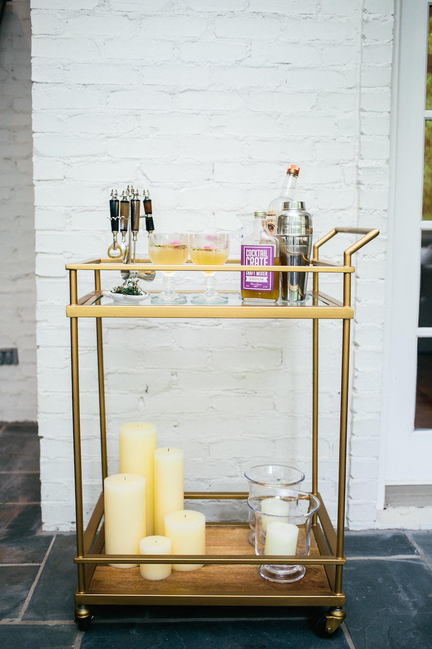 How to Style your Bar Cart for Summer Party by Fashionable Hostess