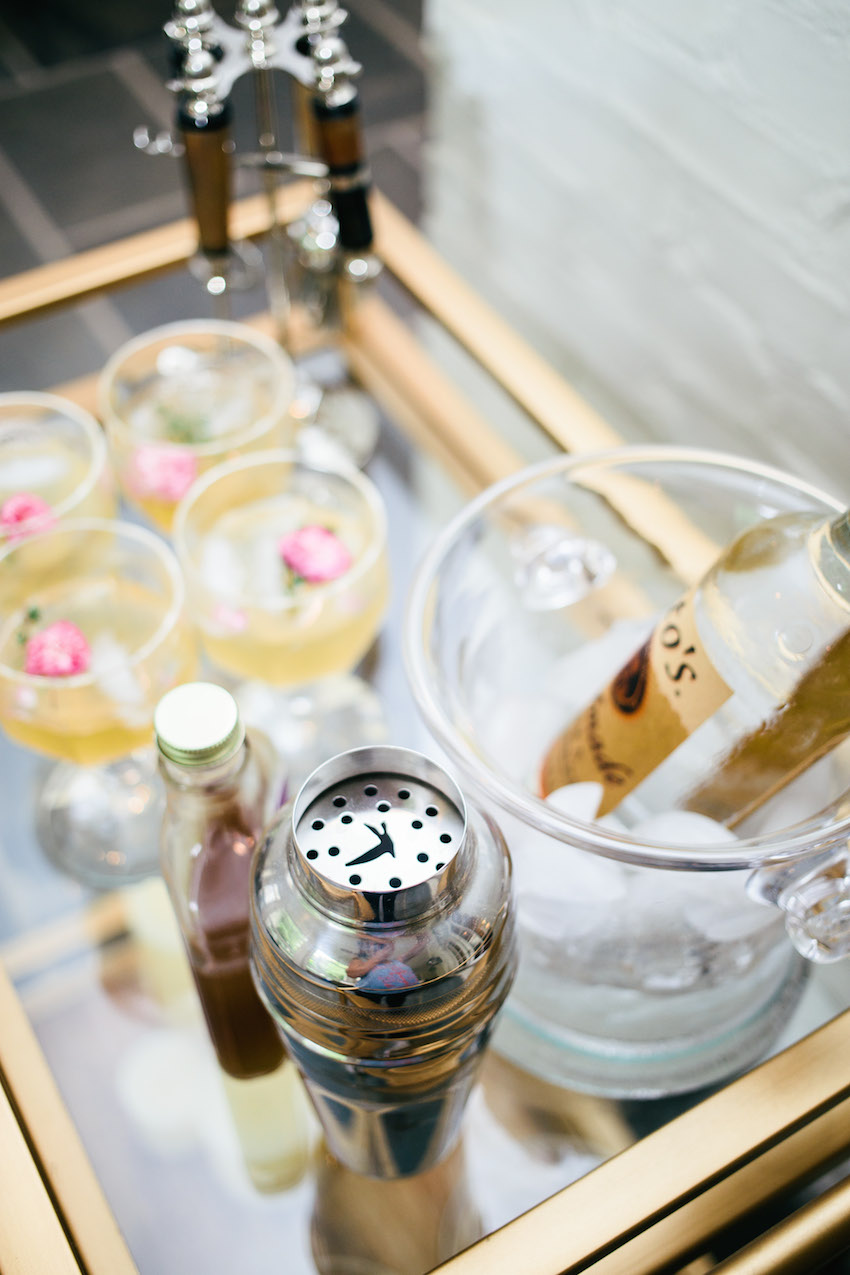 Ideas for Styling your Bar Cart for Summer Party by Fashionable Hostess
