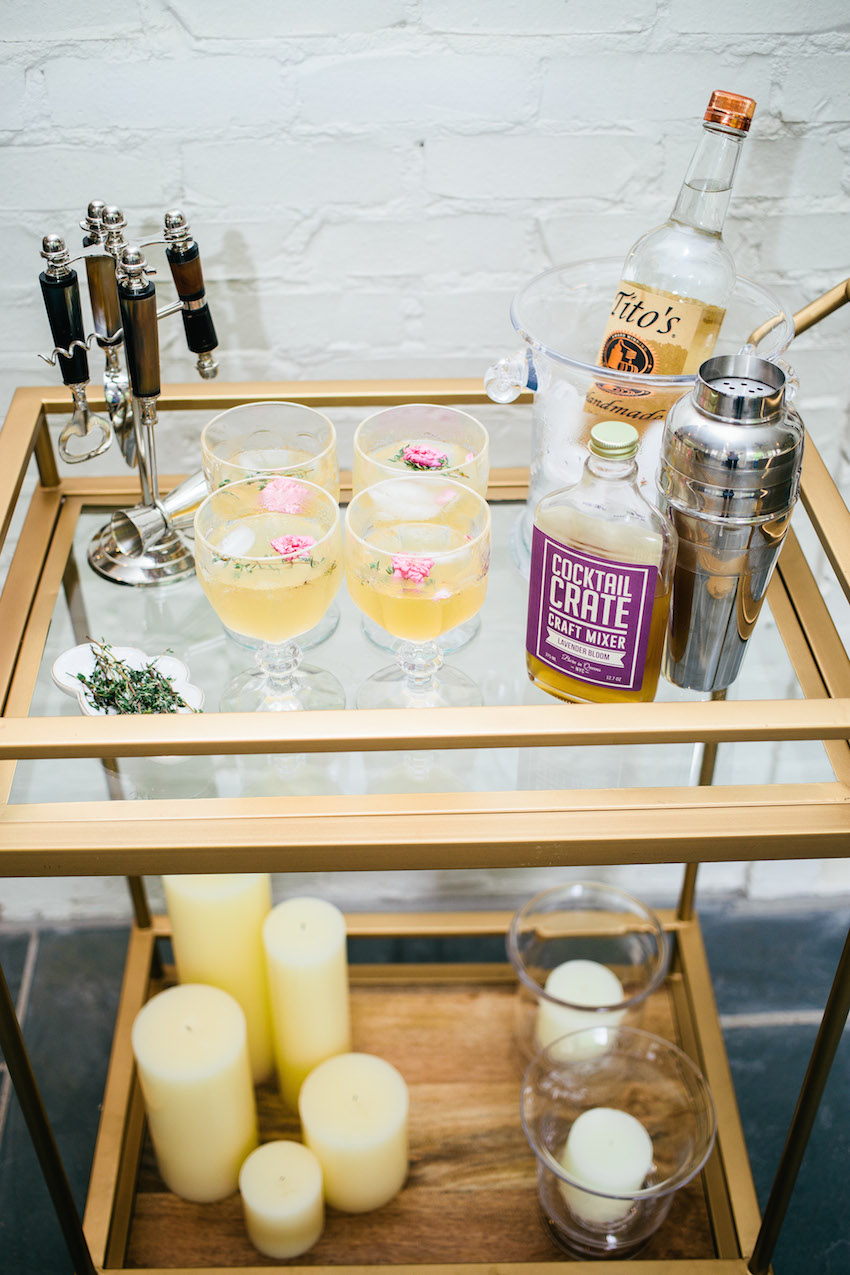 Style your Bar Cart for Summer Party by Fashionable Hostess
