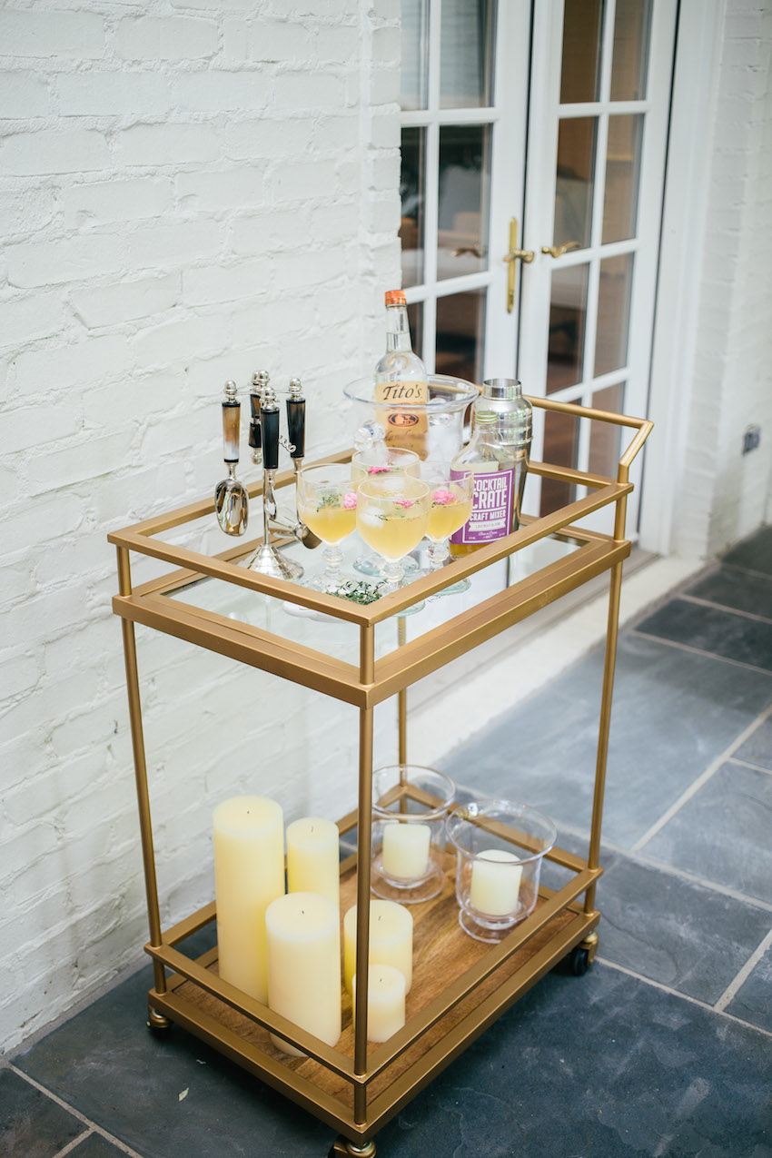 Style your Bar Cart for Summer Party by FashionableHostess.com