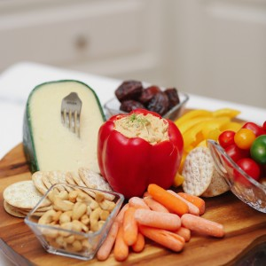 Summer Time Cheese Board with Aloutte Dip by Fashionable Hostess