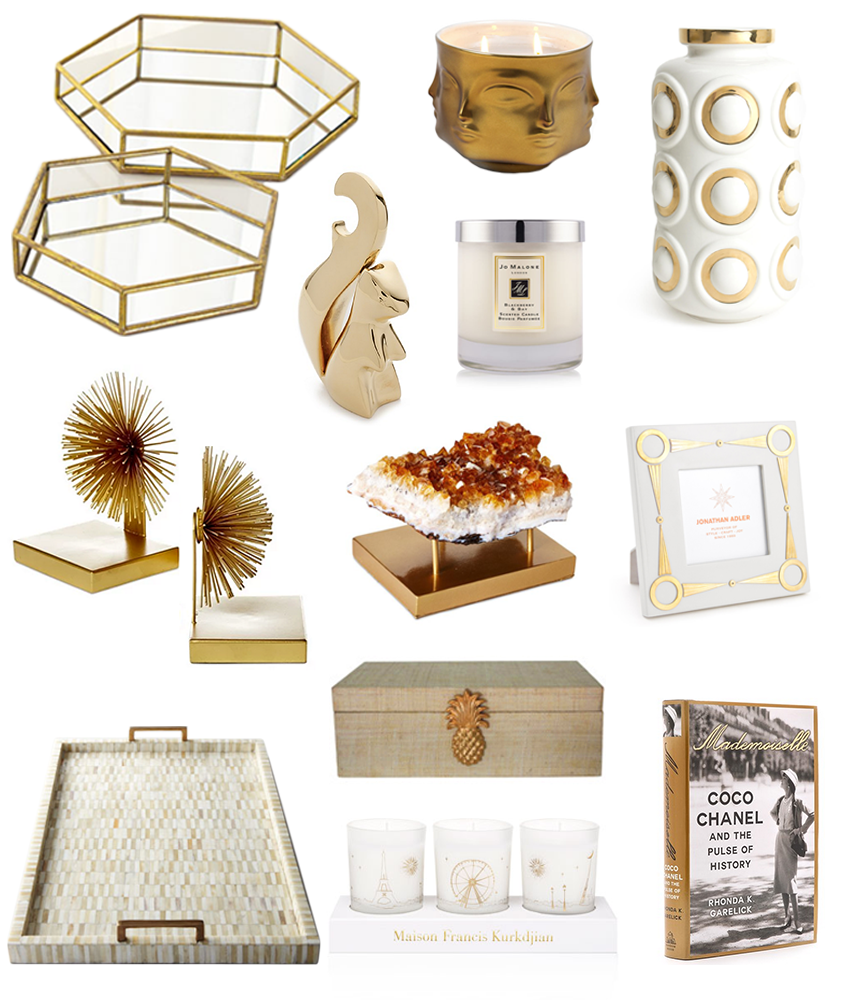 Gold home accessories fashionable hostess for Home decor and accents