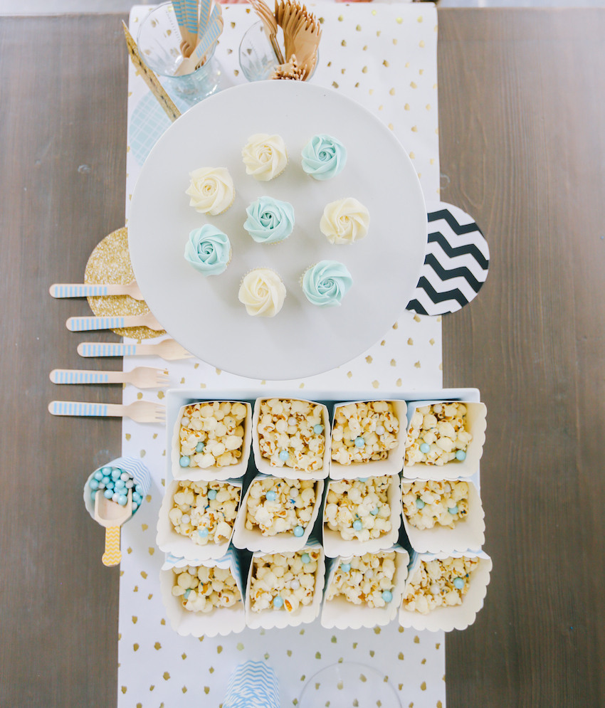 Birthday Dessert Table Ideas in Blue on FashionableHostess.com