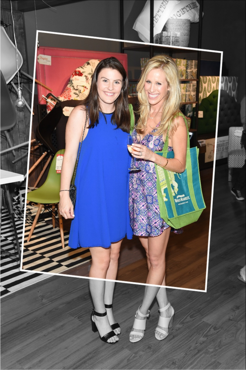 World Market Launch in Chelsea - Amanda Gluck and Erin Thompson