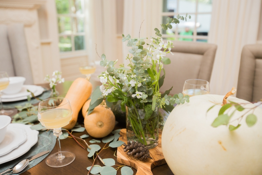Fall Arrangements in Fall Tablescape Inspiration by FashionableHostess