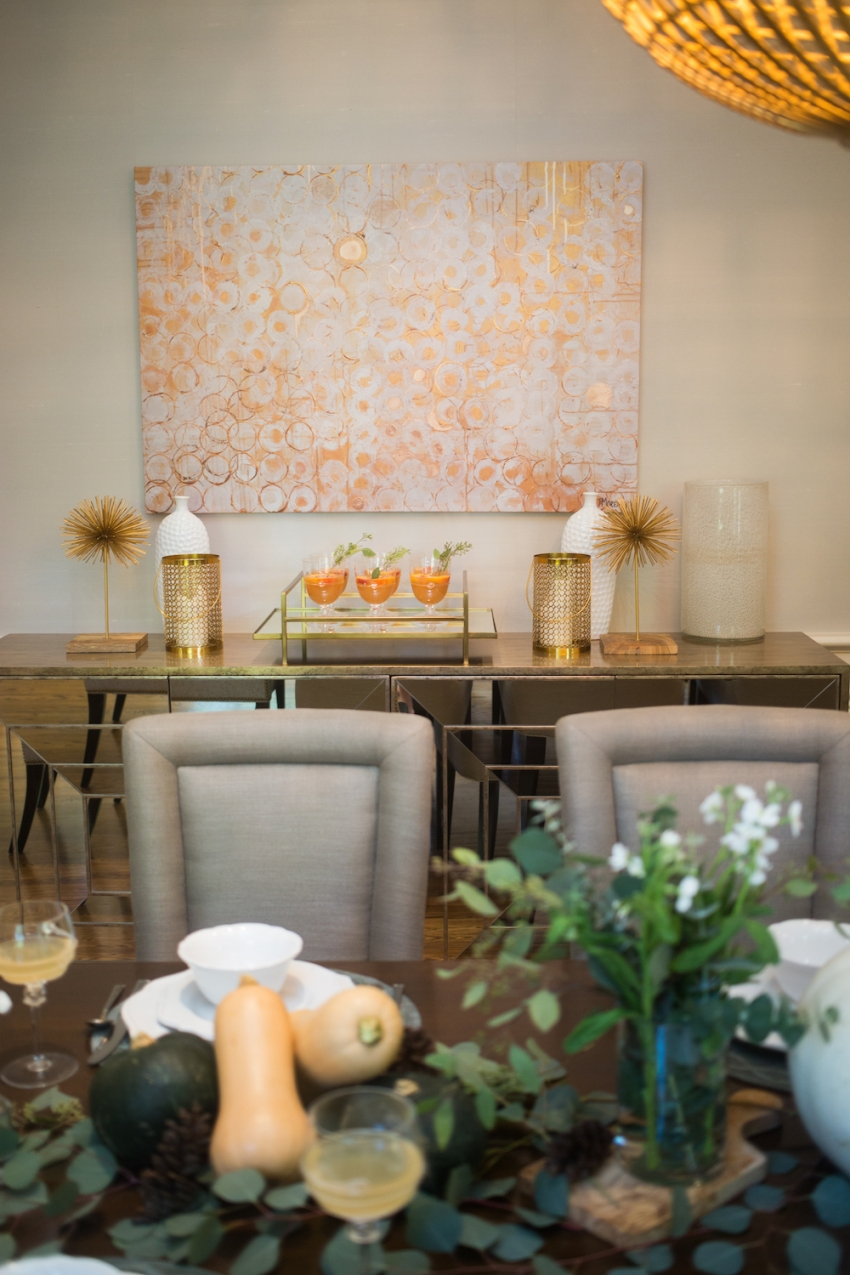 Fall Tablescape and Cocktail Inspiration by FashionableHostess