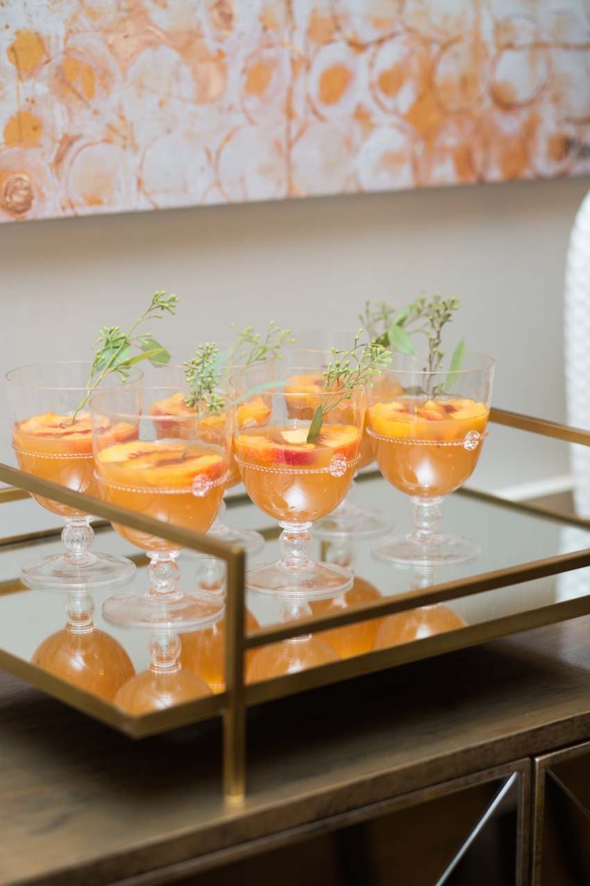 Peach Apple Cider Cocktails by Fashionable Hostess