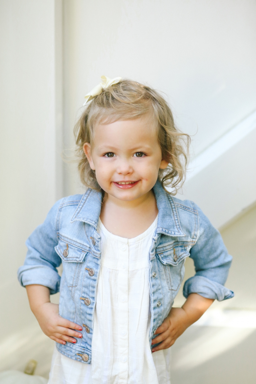 Reese wearing Old Navy Toddler Denim Jacket for Fall Outfit @oldnavy on FashionableHostess