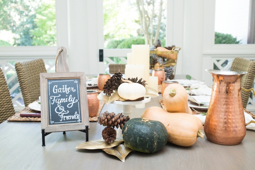 Fall Dinner Party Ideas Part - 34: Fall Tablescape Ideas By FashionableHostess - Featuring Pier1 Products Fall  Menu ...