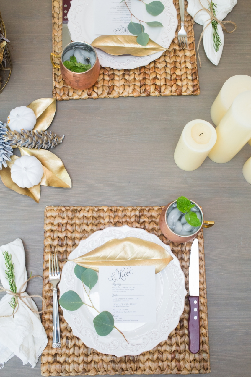 Fall Tablesetting by Fashionable Hostess.com
