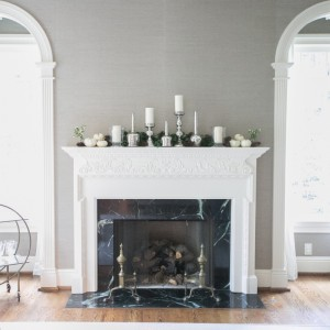 Decorate your fireplace mantel for Fall by Fashionable Hostess
