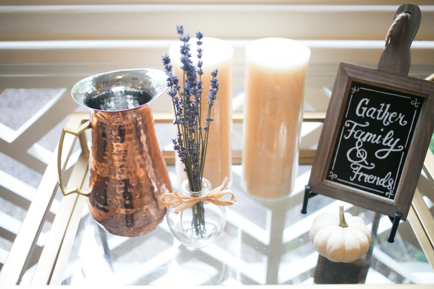 Lovely Fall Decor Bar Cart on Fashionable Hostess