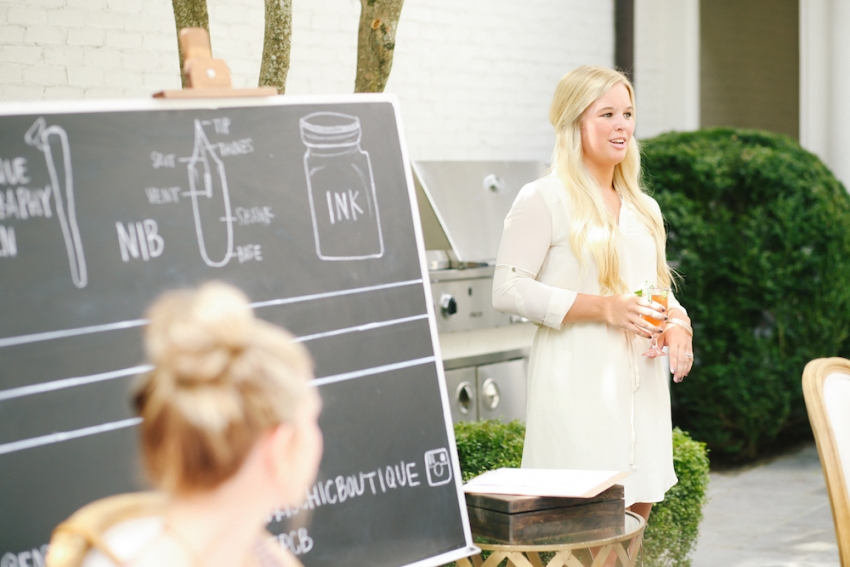 Calligraphy Party with Fashionable Hostess and Parris Chic Nashville 27