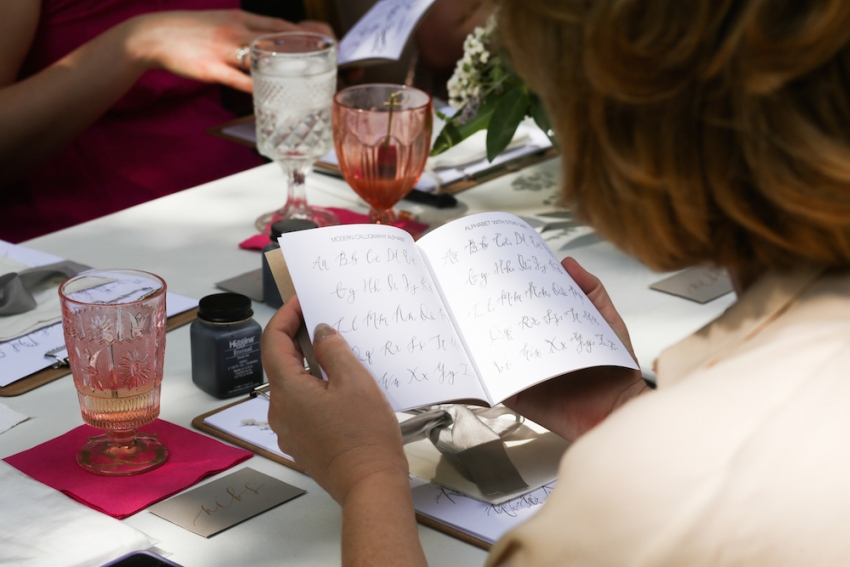 Calligraphy Party with Fashionable Hostess and Parris Chic Nashville 28