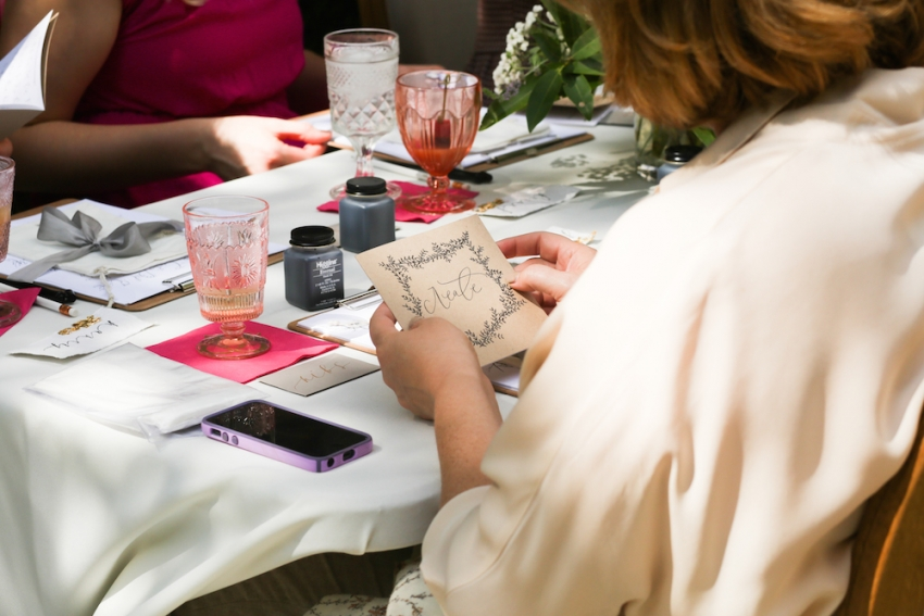 Calligraphy Party with Fashionable Hostess and Parris Chic Nashville 29